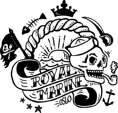 Royal Marine Logo, Oslo, Restaurant, Uteservering